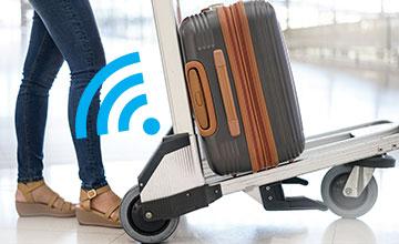 LoRa smart luggage trolley