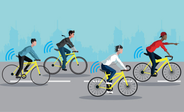 Ofo, a leading Chinese bike sharing company, equips its bicycles with LoRa Technology to track locations, measure regional demand and reduce operating costs.