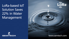 Semtech LoRa-based IoT Solution Saves 22% in Water Management Apana's Internet of Things (IoT) water management system deployed by Costco monitors real-time utility usage