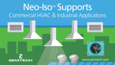 Semtech's Neo-Iso™ Platform Supports High Load Current HVAC and Industrial Applications With proven capabilities in the residential industry, the new Neo-Iso IC offers flexibility and options for maximum current selection