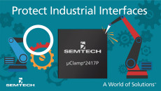 Semtech Expands μClamp® Platform with μClamp2417P to Protect Industrial Interfaces from Dangerous ESD, EFT and EOS Threats The μClamp2417P 24V, surge-rated TVS protection array enables customers to exceed current industry ESD immunity standards