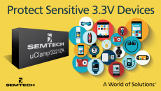 Semtech Expands Mobile Protection Platform with µClamp® 3321ZA – a TVS Protection Device for Safeguarding Sensitive 3.3V Devices Semtech's µClamp3321ZA protects portable devices such as smartphones, tablets, and wearable electronics from dangerous
