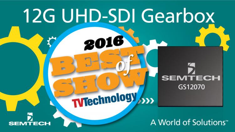 Semtech UHD-SDI Gearbox Wins NewBay Best of Show Award from TV Technology