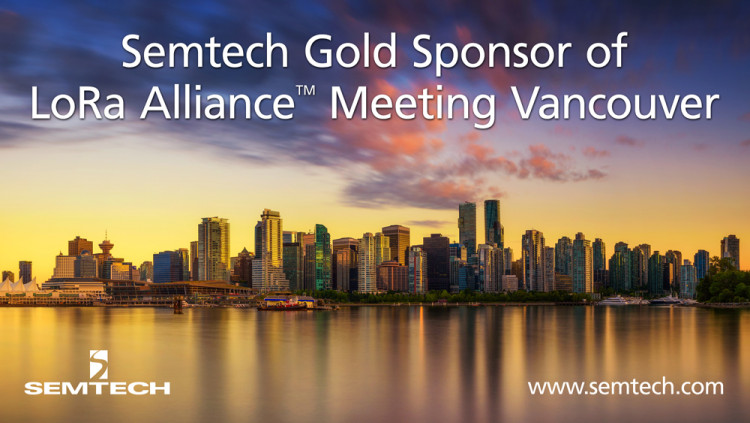 Marc Pégulu keynote at the LoRa Alliance™ 10th All Members Meeting & Open House (AMM), June 6 in Vancouver. Semtech, a founding member and board member of the LoRa Alliance as well as the creator of LoRa, is a Gold Sponsor of the three-day event