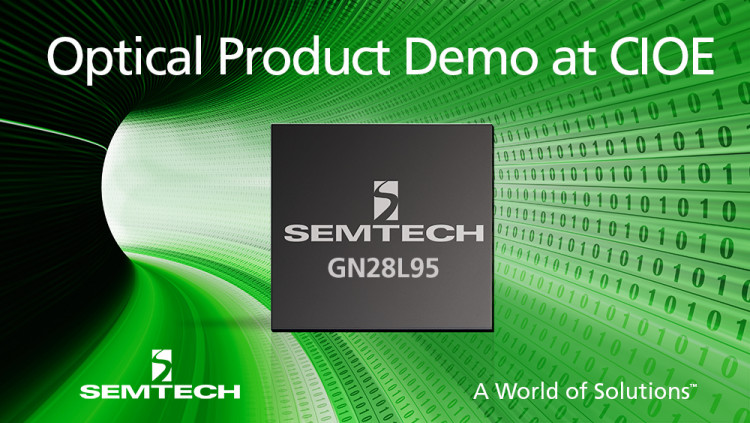 Semtech Introduces Combination Laser Driver and Limiting Amplifier Platform for 10G PON Applications The GN28L95 featuring Semtech's automatic laser calibration technology demonstrated at CIOE booth 1C01