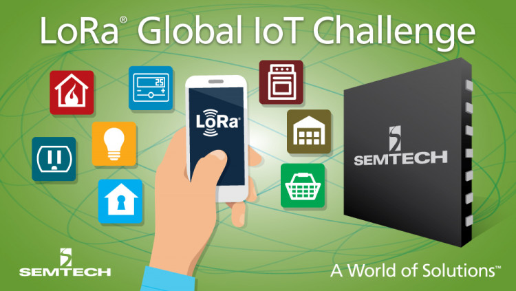 Semtech LoRa® Wireless RF Technology Featured at First Global IoT Challenge Finalists showcased solutions for home automation, monitoring bed bugs and tracking shipping pallets at event sponsored by the LoRa® Alliance