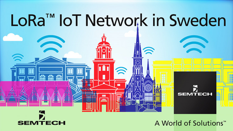 Semtech LoRa® Wireless RF Technology Featured in New Internet of Things Network Planned for Gothenburg Sweden New commercial network from Tele2 and TalkPool AB to be used for a wide range of compelling IoT applications including smart city, public transp