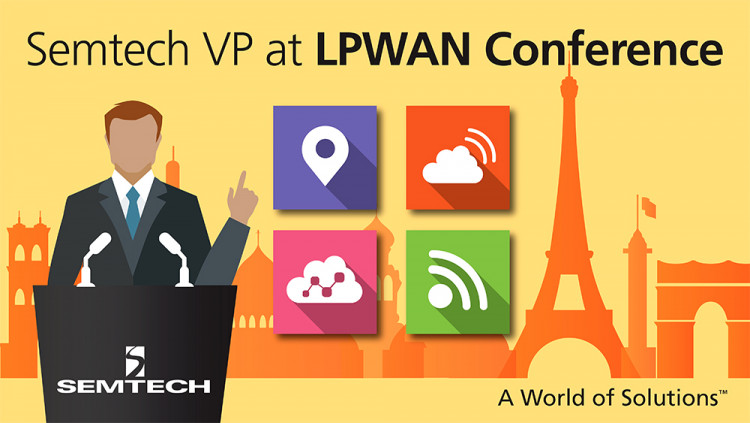 Vice President of Semtech's Wireless and Sensing Product Group to Address LPWAN Conference 2016 in Paris Jaap Groot to discuss Semtech's LoRaWAN™ technology platform and initiatives that support the Internet of Things