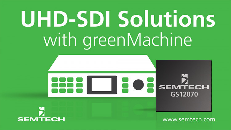 Semtech's Award Winning UHD-SDI Gearbox Enables LYNX Technik's greenMachine titan An industry-leading hardware processing platform that delivers innovative UHD capable video processing