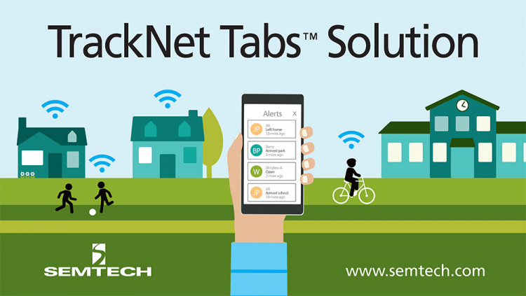 """TrackNet Adopts Semtech LoRa Technology for Tabs Home Monitoring Solution and Consumer IoT Systems Long-range LoRaWAN wireless network is ideal for TrackNet's """"Inside-Out"""" deployment model that combines home-based and carrier-deployed hubs"""