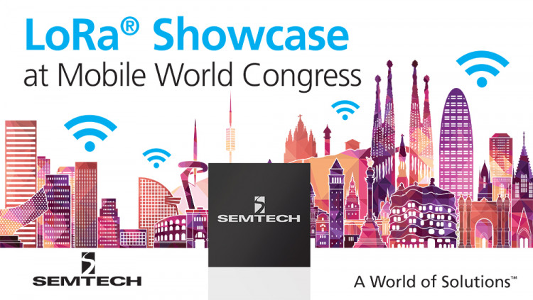 Semtech to Exhibit with LoRaWAN™ Ecosystem at Mobile World Congress Next-generation IoT applications enabled by LoRa® to be displayed in the LoRa Alliance™ IoT Pavilion
