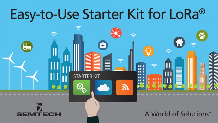 Semtech LoRa® Wireless RF Technology Featured in New Starter Kit for Fast Prototyping of Internet of Things Applications on LoRaWAN™ Networks New LoRa-based starter kit from MultiTech provides the necessary components to quickly build and test smart ci