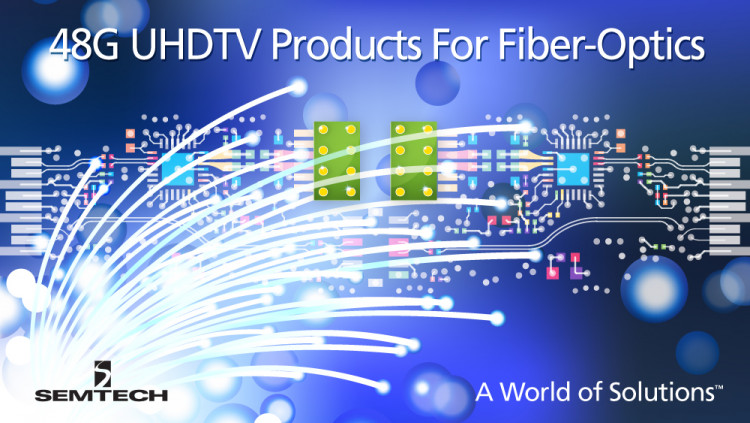 Semtech 48G UHDTV Products Integrated into Inneos Fiber-optic Technology Demonstration at NAB Show 2016 Inneos to utilize Semtech's latest quad TIA and VCSEL driver for NAB Show technology demonstration