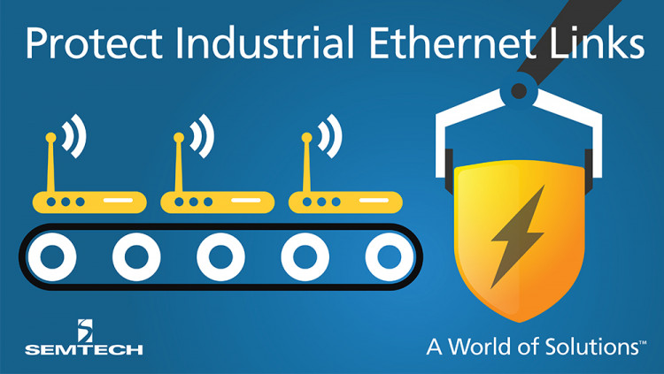Semtech Expands RailClamp® Platform with RClamp0534N – a 5V, High-Surge Transient Protection Array for Safeguarding Industrial Ethernet Links Semtech's RClamp0534N helps protect data-line interfaces from dangerous ESD threats