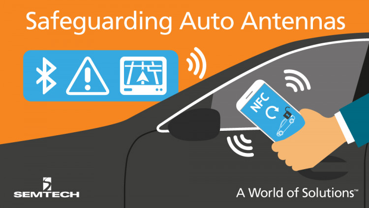 Semtech Introduces the RClamp®2431TQ Ultra-Low Capacitance 24V TVS Device for Safeguarding Automotive Antennas The RClamp2431TQ, engineered to protect high bandwidth car antennas from dangerous ESD transients, expands Semtech's AEC-Q100 protection plat