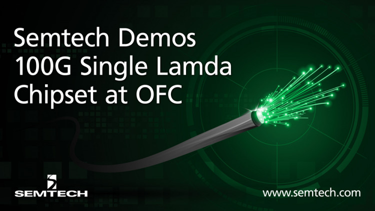 Semtech and MultiPhy Announce Demonstration of 100G Single Lambda Chipset with EML Optics at OFC 2018 Single Wavelength 100G technology poised to start production deployment