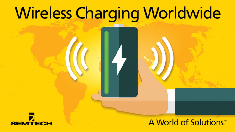 Semtech Wireless Charging Evaluation Platforms Now Available Through Worldwide Distribution Semtech Wireless Charging Platforms allow design engineers to quickly develop and test wireless charging solutions for a broad range of low, medium and high power
