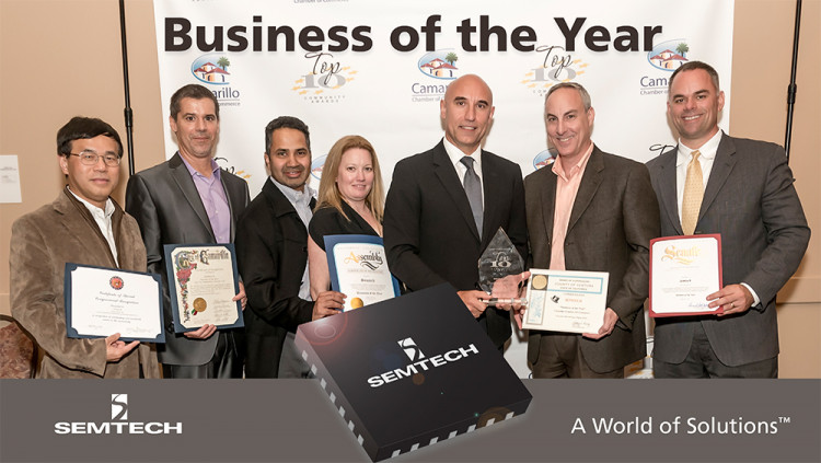 Semtech Named Business of the Year at the 49th Annual City of Camarillo Community Awards