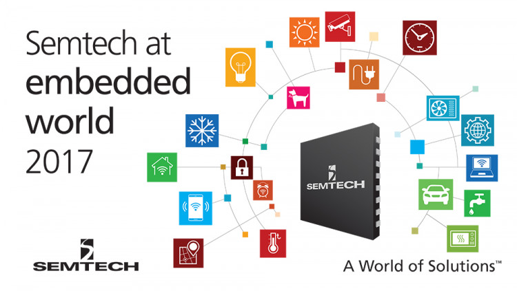 Semtech Demonstrates Next-Generation Analog Platforms at Embedded World 2017 Architectural and performance-differentiated analog and mixed-signal platforms enable today's leading IoT, mobile and automotive applications