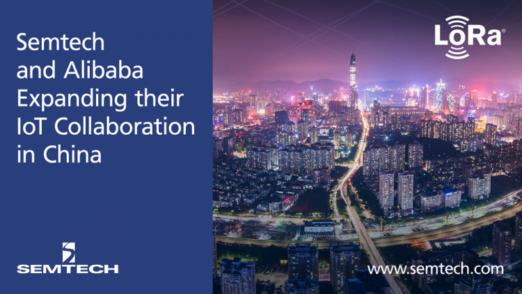 Semtech and Alibaba Cloud Expands IoT Collaboration with LoRa Technology in China Alibaba Cloud's IoT vision is for every enterprise in the future to integrate Semtech's LoRa Technology