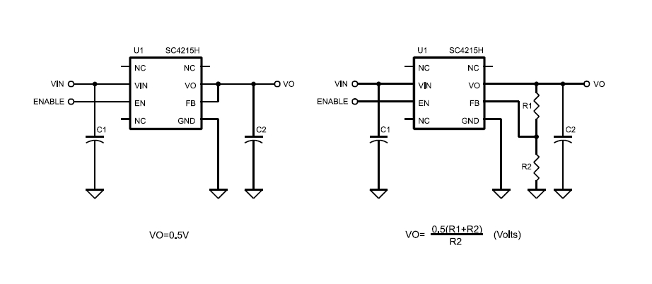 sc4215h very low input very low dropout 2a linear regulator