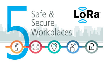 How the Internet of Things, LoRa and LoRaWAN enable smart health safety infographic