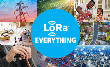 Internet of Things and LoRa infographic